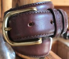 Guess Men's Brown Leather Belt Size 38