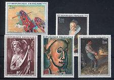 France 5 timbres non oblitérés gomme**  4  Art  peintures - sculptures