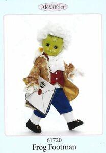 "Madame Alexander # 61720 Frog Footman 8"" Doll - New in Box - Retired"