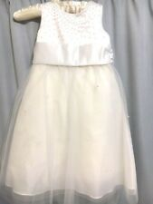 Special Dress Ivory Bow Wedding Bridesmaid Christening Christmas Party Cream 4-5