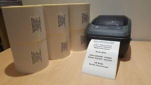 "Zebra GK420D LP2844 Compatible White Direct Thermal Labels 100 x 150 mm 4x6"""