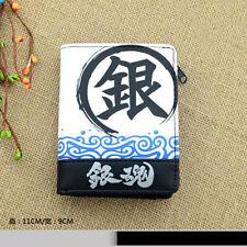 Anime Gintama Cosplay Gintoki Sakata Vertical PU Leather Wallet Short Purse