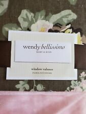 NEW WENDY BELLISSIMO FLORAL PATCHWORK PINK BROWN FLORAL WINDOW VALANCE