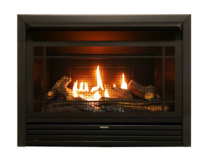 Ventless Gas Fireplace Insert Logs Natural Propane 23 Inch Indoor 26,000 BTU New