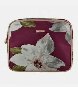 Ted Baker GLITTER Floral Wash Bag Toiletry Cosmetics Make-Up BAG NEW empty