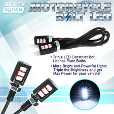 Motorcycle Screw Triple SMD LED Bolt Lamp Car License Plate Light High Power (A)