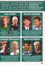 FOOTBALL: IAIN DOWIE & MICK McCARTHY SIGNED A4 (12x8) BOOK/ANNUAL PICTURE+COA