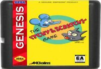 The Itchy & Scratchy Game (1995) 16 Bit For Sega Genesis / Mega Drive System