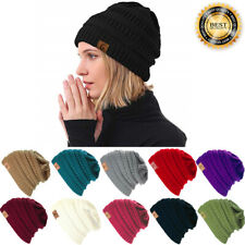 Womens Winter Knitted Skull Ski Cap Messy Slouchy Baggy Beanie Oversize Hat Lot