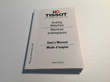 New - Booklet TISSOT - User's Manual - Analog Watches - For Collectors