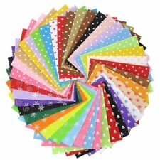40Pcs/Lot Pattern Fabric Heart Dot Felt Cloth Nonwoven DIY Handmade Sewing Fabri