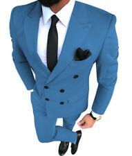 DoubleBreasted Men 2Piece Suits Tuxedos Notch Lapel Groom Groomsman Blazer+Pants