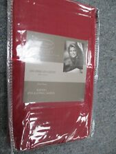 Kathy Ireland 400 Thread Count 100% Cotton Stripe PILLOW CASES RUBY RED KING