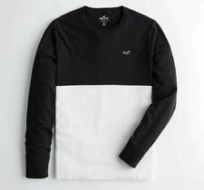 NWT Hollister Men's Long Sleeve Colorblock Embroidered Logo T-Shirt Small
