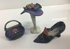 Willow Hall Age of Elegance Miniature Shoe - Purple Passion Circa #1881