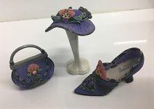 Willow Hall Age of Elegance Miniature Shoe - Purple Passion Circa #1881