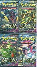 lot de 4 boosters pokemon  XY  origines antiques