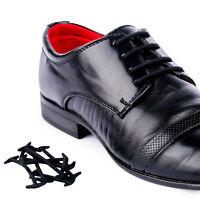 Smart No Tie Silicone Shoelaces Dress Formal Shoe Laces Round Laces Black&Brown