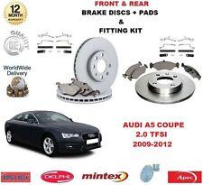 para AUDI A5 Coupe 2.0 TFSI 2009-2012 delante + discos de freno Trasero