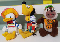 OVERSEAS MCDONALDS TOYS! THREE AMIGOS? DISNEY CHIPMUNK PLUTO DONALD DUCK