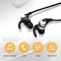 Magnet Metal Sports Bluetooth 4.1 Earphone Wireless Earbud Stereo Headset w/ Mic