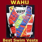 BNIB Wahu swimming aid vest Orange size S,M,L available