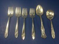 Vintage, 6-Piece Forks & Spoons, Silver Plate, Flatware
