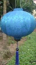 Lampion Seide lampen (Blau)