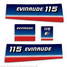 Evinrude 1980 115hp Decal Kit - Discontinued Decal Reproductions in Stock