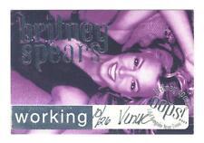 Britney spears-concert-satin-pass working-pièce de collection