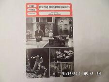 CARTE FICHE CINEMA 1931 LES CINQ GENTLEMEN MAUDITS Harry Baur René Lefebvre