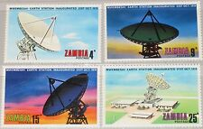 ZAMBIA SAMBIA 1974 137-40 131-34 Inauguration Mwembeshi Earth Station Radar MNH