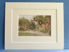 CHENIES BUCKS CHARMING 1920 VINTAGE DOUBLE MOUNTED PRINT SUTTON PALMER 10X8
