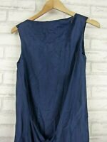 Assin Dress Navy Blue Sleeveless Sz S, 10