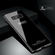 Aluminum Bumper Metal Tempered Glass Back Case Cover For Samsung Galaxy S8 Note8