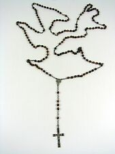 Art Déco, Sterling Silver and Round Glass Beads. Very big rosary, Necklace