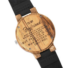 Engraved Handmade Wooden Watch for Family Lovers Valentine's Gift to Men Women