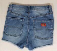Dickies Women Juniors Jean Shorts 1 / 25 Distressed High Rise Cut Off Denim