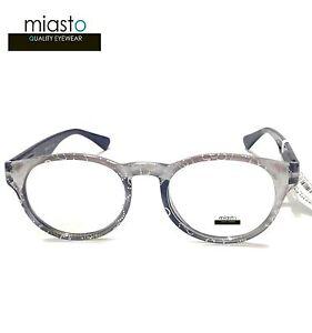 MIASTO RETRO PREPPY ROUND READER READING GLASSES GLASSES+3.00 GLITTERING/PEARL