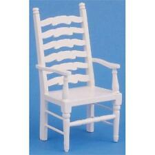Ladderback Carver Chair White 1:12 Scale for Dolls House Kitchen