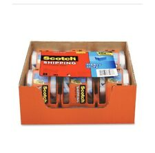 6 Rolls Scotch Shipping Packaging Tape With Dispensers Heavy Duty Packing
