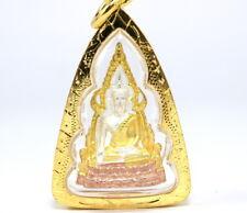 Famous Thai BUDDHA AMULET Pra Chinnaraj 22K 24K Gold GP Detail Pendant GT57
