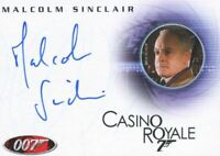 James Bond in Motion 2008 Malcolm Sinclair as Dryden Autograph Card A102