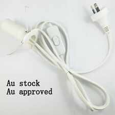 Free 2 X E14 15w globe 2 x white Salt Lamp power cord Au approved 1.8M