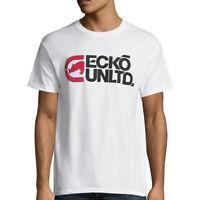 ECKO UNLTD. AUTHENTIC MEN'S CREW NECK SHORT SLEEVE WHITE T-SHIRT