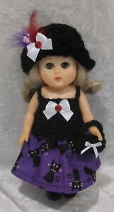 """Made to fit 8"""" GINNY Vogue  #104 Top, Hat, Skirt & Purse,  Handmade doll clothes"""