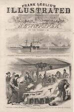 Cooking in Camp of Fremont Dragoons at Tipton, Missouri  -  Civil War   -  1861