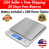 Digital Scale 2000g x 0.1g Jewelry Pocket Gram Gold Silver Coin Precise Medical
