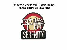 Serenity/Firefly Embroidered Iron or Sew-on Movie TV Logo Patch Joss Wheldon New