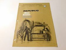 Vintage Republic Work Benches Catalog 16 Pages (Inv #236)